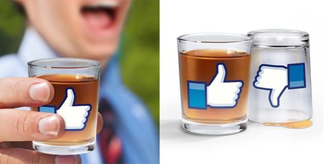 Facebook-Schnapsglas