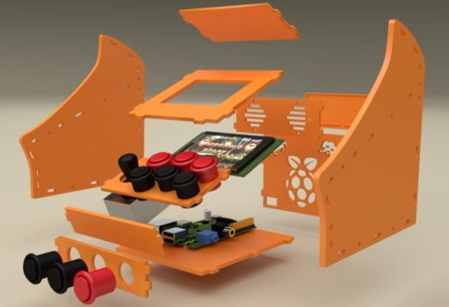 Raspberry-Pi-Nano-Arcade-Cabinet